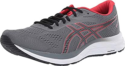 ASICS Men's Gel-Excite 6 Running Shoes, 11.5, Steel Grey/Classic RED