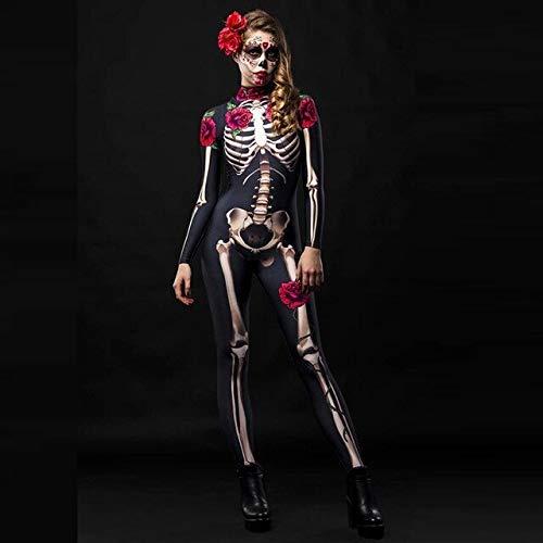 ZHANGHUI Trajes de Miedo Cirujano de Disfraces de Halloween, Disfraces de Halloween los niños, Vestido Patinador de Halloween (Color : Black, Size : L)