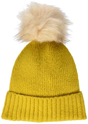 PIECES Pcdiana Wool Hood Noos Gorro de Punto, Dorado (Nugget Gold Nugget Gold), Talla única para...
