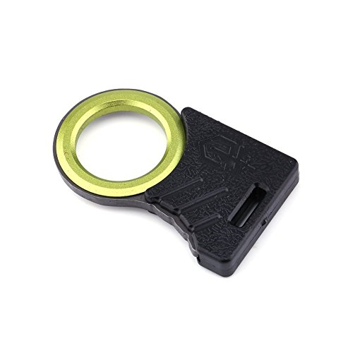 Tbest EDC herramienta, 2 piezas Multi al aire libre supervivencia EDC cuerda de corte cuerda de corte-cinturón gancho de corte pulgar agarre bolsillo llavero utilidad EDC llavero