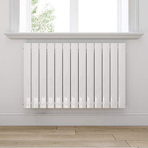 Design Heizkörper 630x1001mm Einlagig Badezimmer/Wohnraum Seitenanschluss Weiß Flachheizkörper Badheizkörper Radiator