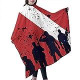 Tauchflagge Soldaten Veteranen Unisex Salon Barber Gown Cape für Männer FrauenHairdressing zu...