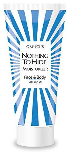 Der umweltfreundliche Feuchtigkeitsspender Nothing To Hide von Omuci für Gesicht und Körper. Vegan, 100% natürliche Inhaltsstoffe