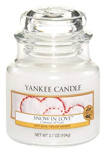 YANKEE CANDLE 1249717E Bougie Parfumée l'amour d'hiver, Blanc, Small