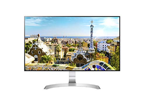 LG 27 inch 4 Side Borderless LED Monitor - Color Calibrates Full HD, IPS Panel with VGA, HDMI, in-Built Speakers - 27MP89HM (Silver/White)