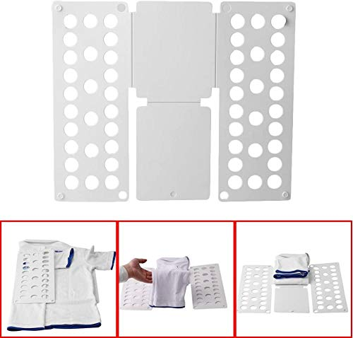 YAYY Hemd Faltbrett T-Shirt Faltbare T-Shirts Ordner Falthilfe Einfach und schnell für Kinderkleidung Falten Wäsche Wäsche Ordner und Hemd Ordner Weiß-Weiß(Upgrade)