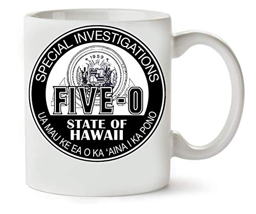BakoIsland Hawaii Five-O Special Investigator Shield tè e caffè Tazza