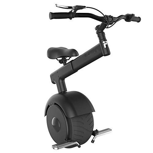 Y&XF 800W Pieghevole ElectricScooter, One Wheel Auto bilanciamento Intelligente Scooter Motor Electric Monociclo Sistema frenante 550 lbs Carico Massimo Peso con 60V Batteria al Litio,Black,50KM