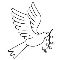 車のステッカーの装飾 平和と愛のファッションビニールのアートカーステッカー黒の銀の10.4X13CM白鳩鳥 (Color Name : Black)