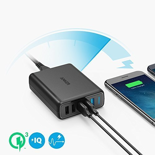 Anker PowerPort Speed 5, 63W 5 Port USB Ladegerät, Netzteile mit Quick Charge 3.0 & Power IQ für Samsung Galaxy S8 / S7 / S6 / Edge / Plus / Note, iPhone, iPad, LG, Nexus, HTC usw.