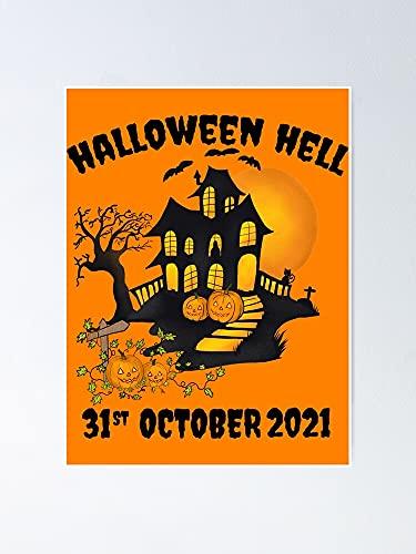 AZSTEEL Póster clásico de Halloween 31 de octubre de 2021 para Halloween, el mejor regalo de 29,7 x 41,9 cm, para amigos y familia