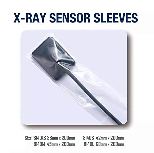 Dental X-Ray Sensor Sleeves 140XS Extra Small 1.5×8″ 500/box Clear