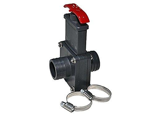 ESTA Poolshop PVC Absperrschieber 38 x 38 mm mit 2 Stück V2A Schellen