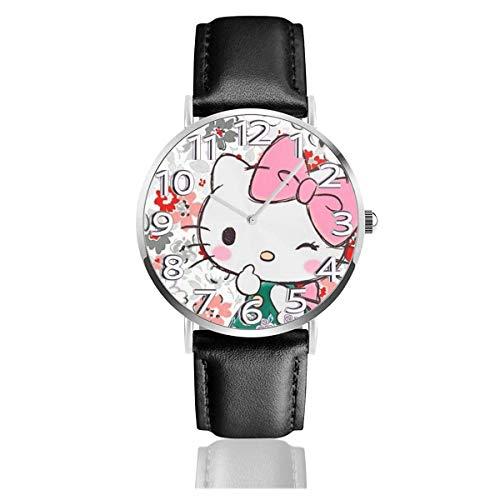 Simpatico orologio Unisex Easy Reader con cinturino in Pelle analogico al quarzo da 38 mm