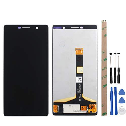 YHX-OU 6.0' LCD per Nokia 7 Plus LCD Display Touchscreen di Ricambio con Attrezzi Completo (Nero)