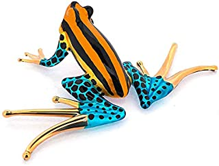 ZOOCRAFT Frog Figurines Collectible Blown Glass Gifts Ideas Handmade Lovers Animals Collectibles Home Garden Decor