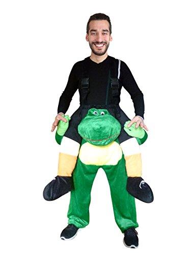 Ikumaal Carry-me Frosch-Kostüm, F109 Gr. M-L, Frosch-Kostüme Frösche Kostüme Frosch-Faschingskostüm,, Fasching Karneval, Fasnachts-Kostüme Tier-Kostüme, Faschings- Huckepack-kostüm, Männer-Kostüme
