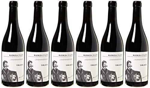 Torlasco Cassa Legno Regalo Piemonte Mix: Barbera d'Asti Docg + Barbaresco Docg + Barolo Docg - Confezione da 6 X 750 ml