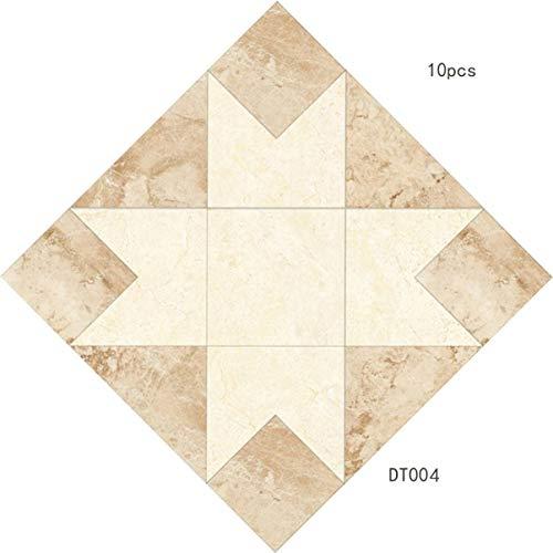 DT004 - Lámina de impresión de azulejos de cerámica, papel de suelo de PVC, autoadhesivo para pared, impermeable, 10 unidades