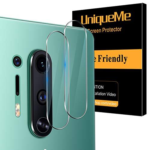 [2 Pack] UnqiueMe Panzerglas Kamera für Oneplus 8 Pro Kamera Schutzfolie Linse, Rücklichtfolie [Blasenfrei] HD klar Folie gehärtetes Glas