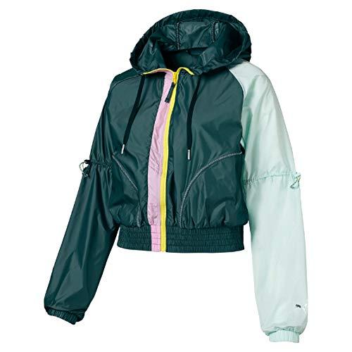PUMA Damen Cosmic Jacket TZ Trainingsjacke, Ponderosa Pine-Fair Aqua, S