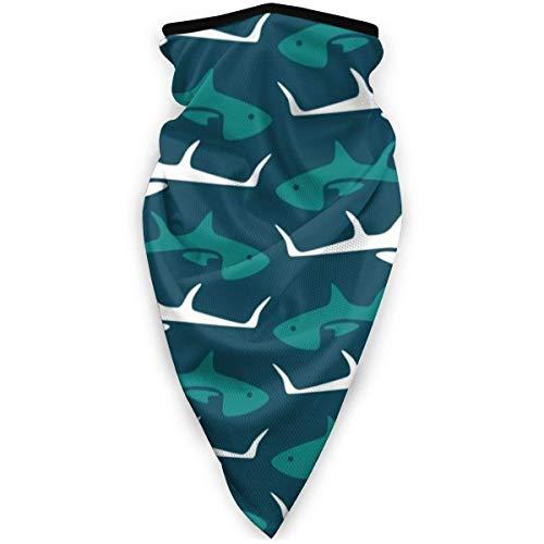 ONLED Minimal Blue Thunfisch Cartoon Maske Winddicht Bandana Gesichtsmaske Gaiter...
