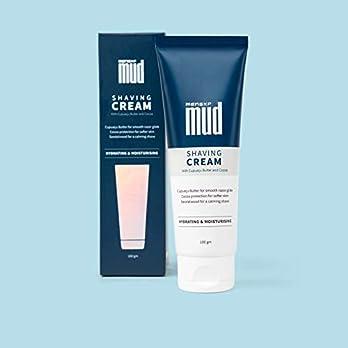 MensXP Mud Shaving Cream With Cupuacu Butter, Cocoa & Sandalwood, 100 gm