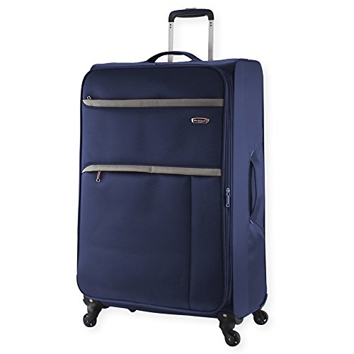 New Rocklands Super Lightweight Luggage Carry On Suitcase Cabin Travel Bag (Large 28' (H78xW46xD32cm), Navy)