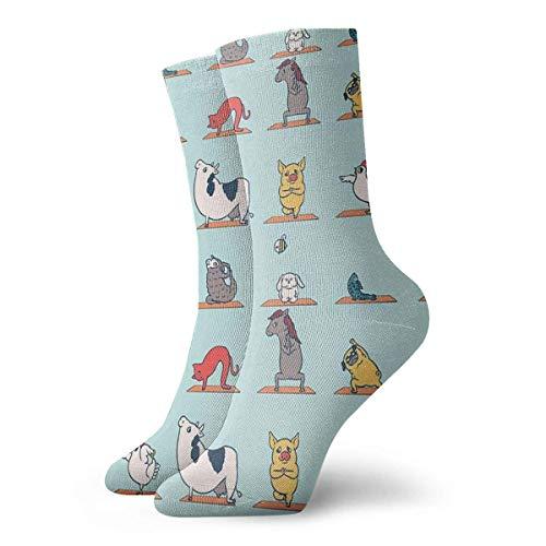 Calcetines de yoga veganos clásicos de ocio deporte calcetines cortos 30 cm/11.8 pulgadas adecuados para hombres mujeres