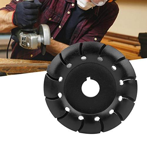 Holzschnitzscheibe, 12 Zähne Holzschneidscheibe, Formpolierscheibe gehärtet für Winkelschleifer Gummi Schnitzen anderer Materialien Holz