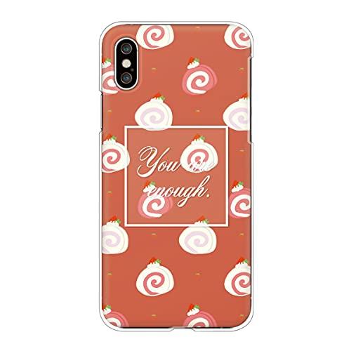 iPhone13 Pro アイフォン 対応スマホケース 【G】テラコッタ スイーツ柄 ロールケーキ いちご かわいい ドット柄 くすみカラー case6337