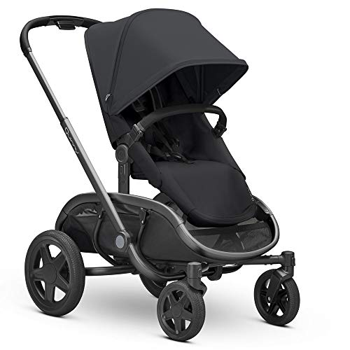 Quinny Hubb Mono XXL Shopping Pushchair, Large Storage Basket, Easy Fold Pushchair, 6 Months to 3.5 Years, Black on Black