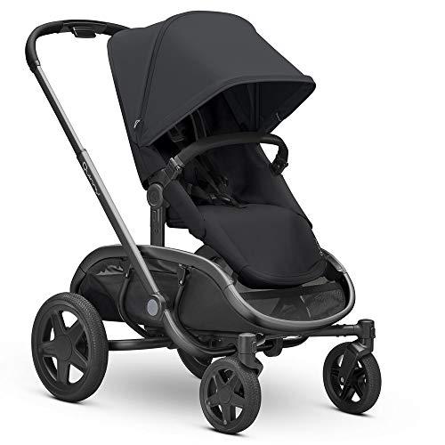 Quinny Hubb Mono XXL Shopping-Kinderwagen, großer Einkaufskorb, einfach klappbarer Kinderwagen, nutzbar ab ca. 6 Monate bis ca. 3,5 Jahre, Black on Black