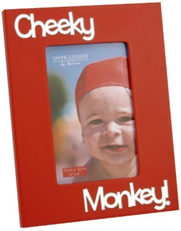 Venta en línea de descuento de fábrica Boys Photo Mirror Frame With 3D Letters  cheeky cheeky cheeky monkey  by El Naturel Ltd  artículos novedosos