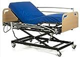 Ferlex - Cama articulada con Carro Elevador, cabecero piecero, colchón Sanitario viscoelástico y barandillas abatibles (90x190)