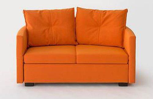 Schlafsofa LAVIN, 133x209cm, Sofa mit Schlaffunktion von Signet - Mona Orange