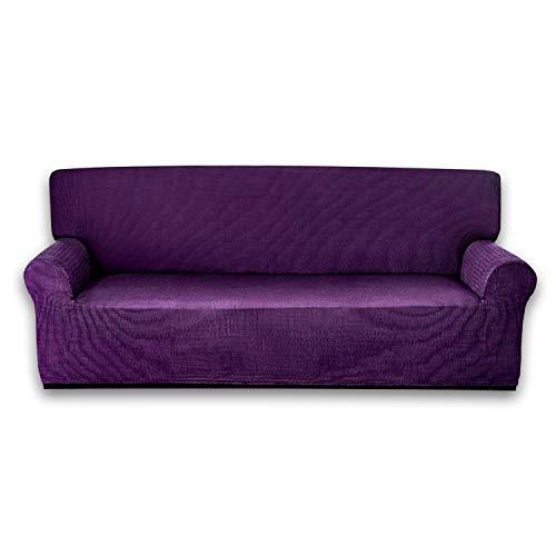 MercuryTextil Fundas de Sofas elasticas y adapatable, Funda Sofa 1,2,3 plazas Sofa Clic (Morado, 1PLAZAS 70-100CM)
