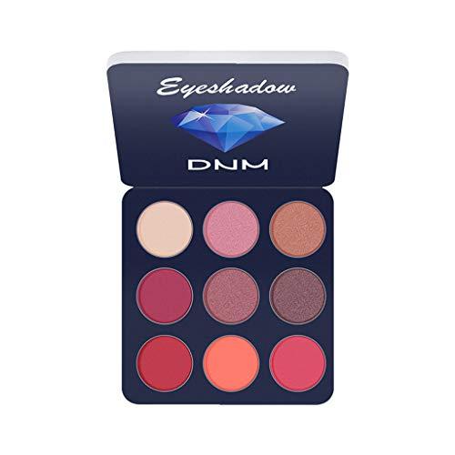 yuyuanDO DNM Palette de fards à paupières professionnelle pour mini-maquillage pour les yeux avec poudre à paupières 9 couleurs. (C)