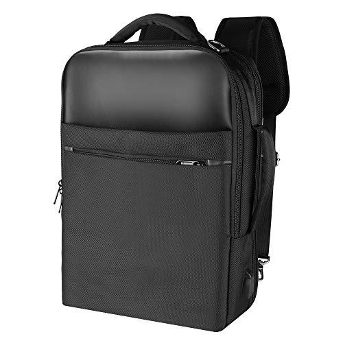 """Gimars 3 in 1 Zaino Convertibile Messenger Bag per Computer Portatile da 15.6""""Borsa a Tracolla Uomo con Presa USB Antifurto Multifunzionale da Università Scuola Business Viaggio Aereo Nero"""