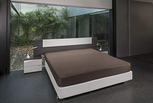 B.sensible BSensible Tencel-Spannbettlaken, wasserdicht und atmungsaktiv Bett mit Gelenken am Kopf und an den Füßen 90+90 X 200 braun