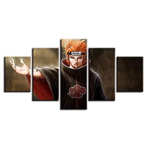 TXFMT Geen Frame Canvas Decoratie Schilderen Handgemaakte DIY Animatie jongen Ninja Rol Prints op Doek Het Landschap Foto's Olie voor Thuis Moderne Decoratie Print Decor voor Woonkamer 150*100CM