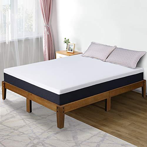 Olee Sleep 10 Inch EOS Multi Layer Gel Infused Memory Foam Mattress, Queen, White