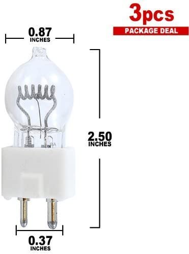 WIKO Dys / Dyv / Bhc Projector & Studio Lamp 600W 120V Bulb 3-pack by BulbAmerica