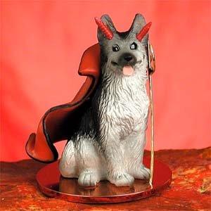 pastore tedesco (nero e argento) Devil figurine