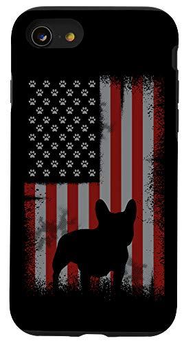 iPhone SE (2020) / 7 / 8 Patriotic American Flag Frenchie Lover Gift Men Women Dog Case
