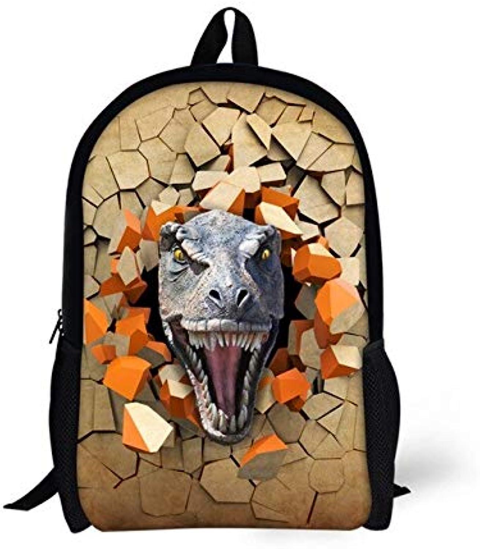 Bgdo.cccc Mnner Frauen im Freien Schultern Tasche Stoff Rucksack Drucken 3D Daypacks 3D Dinosaur Printing Größe 44x28x13cm,CA5193C