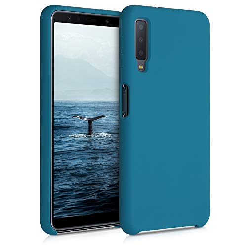 kwmobile Custodia Compatibile con Samsung Galaxy A7 (2018) - Cover in Silicone TPU - Back Case per Smartphone - Protezione Gommata Petrolio Matt