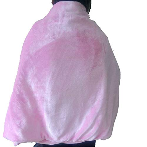 YFWJD USB Heated Blanket Wrap Shawl, Heated Warm Shawl Carbon Fiber Heating Scarf Heated Blanket Cushion Pad For Shoulder And Neck- Keep Warm And Relieve Pain,Pink,100 * 65cm