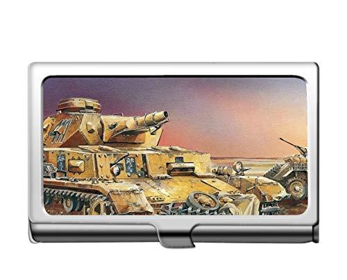 Professionelle Business-Kreditkartenetui/Ausweishülle, Militär-Panzer IV-Kartenhalter aus Edelstahl