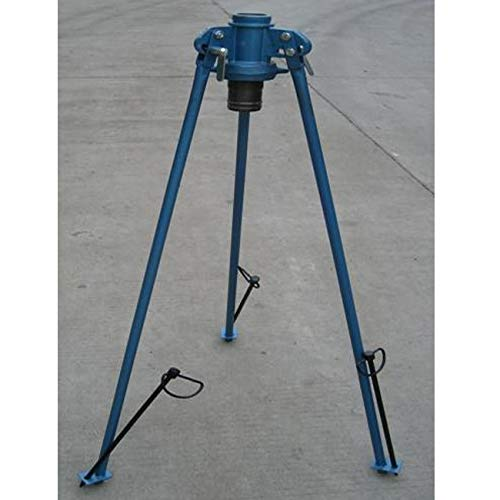 "Suinga - Soporte AGRICOLA 2"" para Aspersor de riego. Altura 114 cm. Tripode Fabricado en Acero. Conexión Inferior layflat 2""."